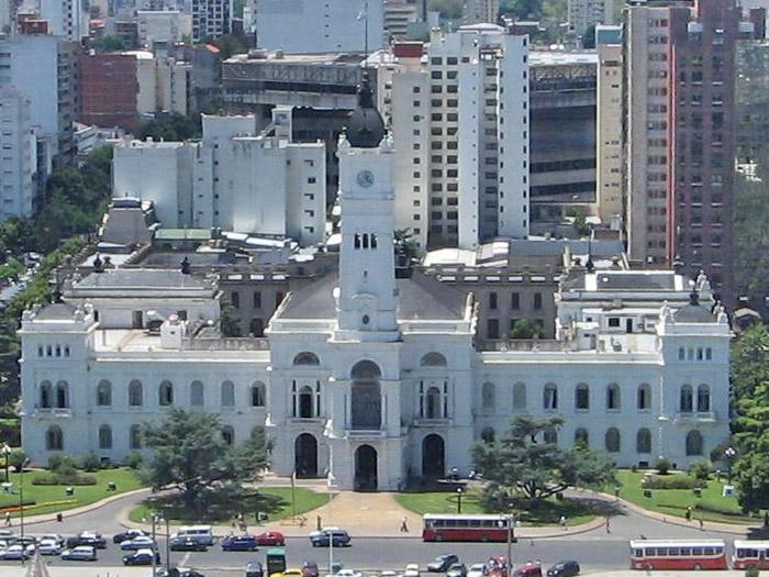 Municipalidad de La Plata frente